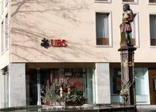瑞士银行-瑞银 库存照片