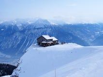 瑞士阿尔卑斯咖啡馆 库存照片