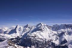 瑞士阿尔卑斯在冬天 库存照片