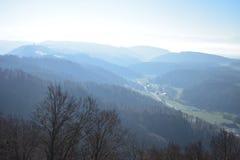 瑞士阿尔卑斯山脉的风景从于特利贝格的 库存图片