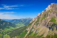 瑞士阿尔卑斯横向 库存图片
