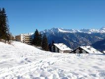 瑞士阿尔卑斯的山 库存照片