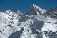 瑞士阿尔卑斯的高山 免版税库存照片