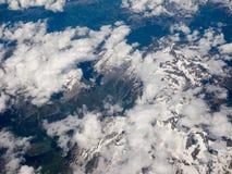 瑞士阿尔卑斯鸟瞰图 图库摄影