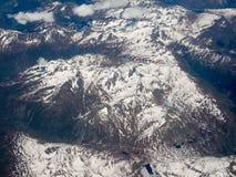 瑞士阿尔卑斯鸟瞰图 库存照片
