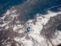 瑞士阿尔卑斯鸟瞰图 免版税库存图片