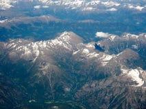 瑞士阿尔卑斯鸟瞰图 免版税库存照片
