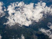 瑞士阿尔卑斯鸟瞰图 库存图片
