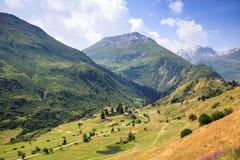 瑞士高山谷 库存照片