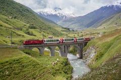 瑞士高山风景 库存图片