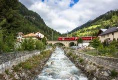 瑞士高山风景 免版税库存照片