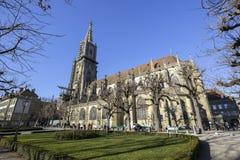 瑞士,伯尔尼大教堂 库存照片