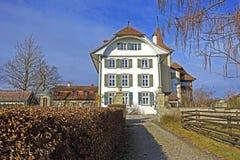 瑞士,伯尔尼, Wittigkofen宫殿 库存图片