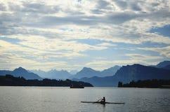 瑞士,天空遇见地球 免版税库存图片