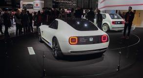 瑞士;日内瓦;2018年3月10日;本田体育EV概念后面;第88个国际汽车展示会在从第8的日内瓦 免版税库存照片