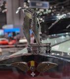 瑞士;日内瓦;2019年3月9日;Hispano Suiza鹳敞篷装饰品;第89个国际汽车展示会在从第7的日内瓦 库存照片