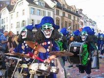 瑞士 巴塞尔- 2014年3月10日 Fastnacht Ð ¼ eeting春天 图库摄影