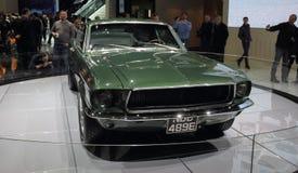 瑞士;日内瓦;2018年3月8日;Ford Mustang 1968前方 库存照片