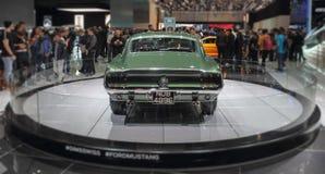 瑞士;日内瓦;2018年3月8日;Ford Mustang 1968后面; 免版税库存照片