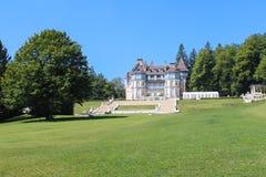 瑞士- 9月04 :议院在阿尔卑斯 库存图片