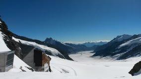 瑞士- Jungfraujoch 图库摄影