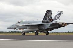 瑞士F-18大黄蜂 免版税库存照片