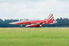 瑞士Patrouille Suisse的示范飞行特技队 库存图片