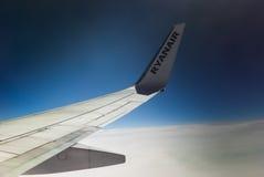 瑞安航空公司小翅膀 免版税库存照片