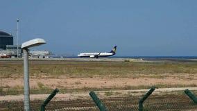 瑞安航空公司阿利坎特机场 股票视频
