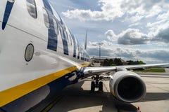瑞安航空公司飞机 库存图片