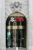 瑞银总部,瑞士苏黎士 免版税库存图片