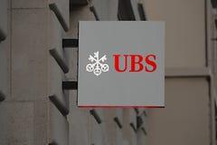 瑞银银行标志 免版税库存图片