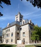 默瑟县法院大楼 库存图片