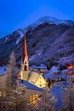 瑟尔登滑雪胜地地平线在Morningl,奥地利 免版税库存图片