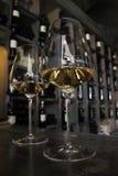 玻璃二白葡萄酒 免版税库存图片