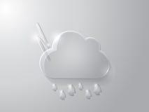 玻璃云彩的传染媒介例证 免版税库存照片