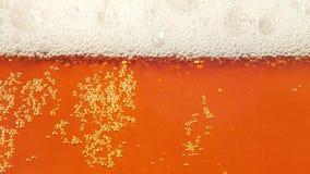 玻璃充分啤酒移动的泡影 慢的行动 特写镜头 股票录像