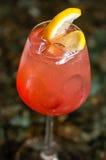 玻璃充满红色鸡尾酒 库存图片