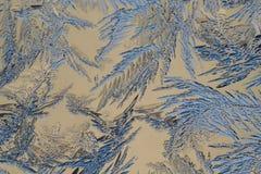 玻璃冰模式 库存照片