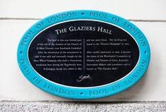 玻璃剪裁工霍尔在伦敦 免版税库存图片