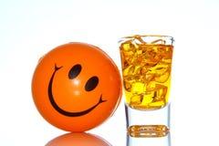 玻璃和丙烯酸酯的冰 免版税库存图片
