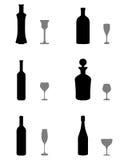 玻璃和瓶 免版税库存图片