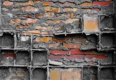 玻璃和砖 免版税库存照片