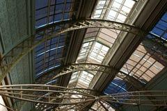 玻璃和铁屋顶 免版税库存图片