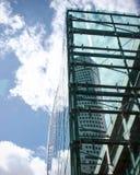 玻璃和建筑学 免版税库存图片