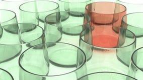 玻璃器皿翻转者 图库摄影