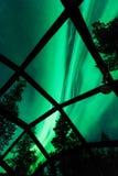 玻璃园屋顶的小屋旅馆 库存图片