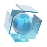 玻璃地球球形 免版税库存图片