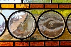 玻璃多彩多姿的被弄脏的视窗 库存照片