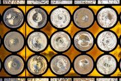 玻璃多彩多姿的被弄脏的视窗 免版税库存图片